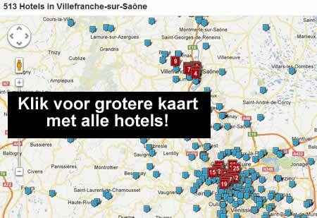 hotel kaart Villefranche-sur-Saone Frankrijk