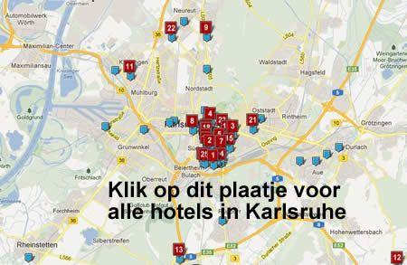 hotel kaart karlsruhe duitsland