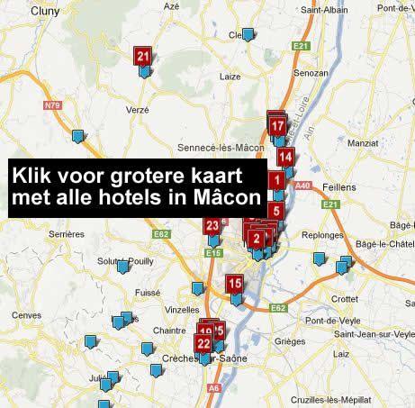 hotel kaart macon frankrijk