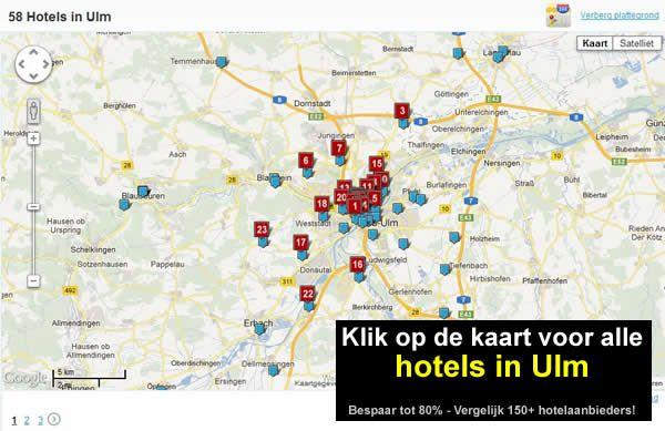 kaart hotels ulm zuid duitsland