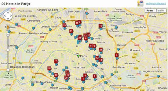 kaart ibis hotel parijs frankrijk