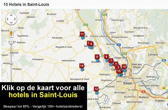 kaart Saint-Louis - Elzas - Frankrijk A35 (E25 / E60)
