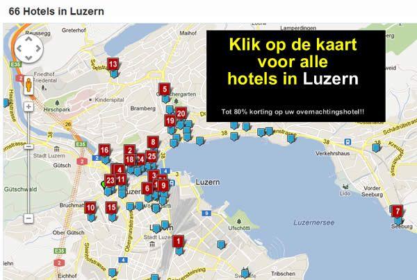 hotelkaart luzern zwitserland