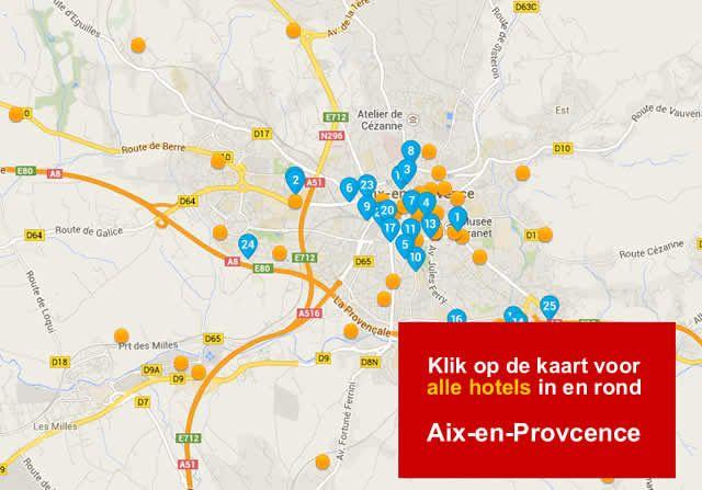 overnachtingshotel Aix en Provence A5 en A51 Frankrijk