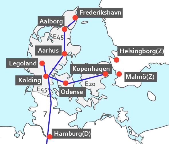 Hotelkaart Denemarken