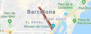 Winkelstraat de Ramblas Barcelona centrum